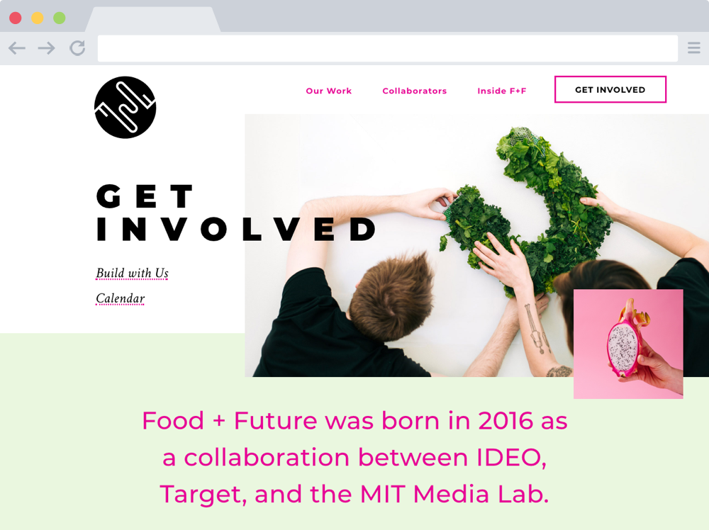 Get Involved – Food + Future